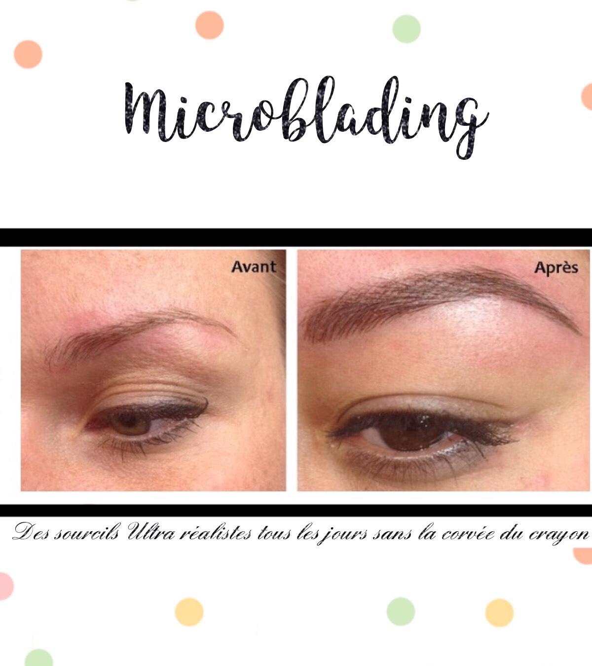 Croissant Maquillage Semi-permanent des Sourcils: microblading vichy en AC-18